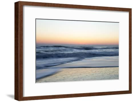 Churning Waves Crash onto the Shores of Pea Island-Robbie George-Framed Art Print
