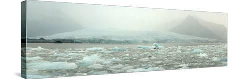 Panoramic View of Fjallsarlon Ice Lagoon in Iceland-Raul Touzon-Stretched Canvas Print
