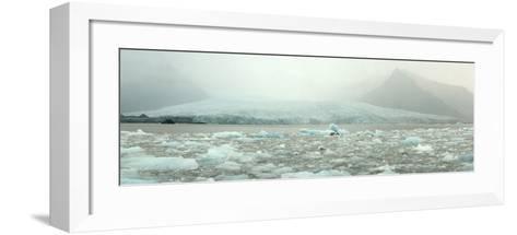 Panoramic View of Fjallsarlon Ice Lagoon in Iceland-Raul Touzon-Framed Art Print