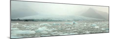 Panoramic View of Fjallsarlon Ice Lagoon in Iceland-Raul Touzon-Mounted Photographic Print