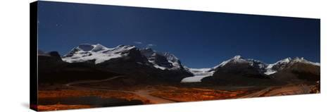 Glacier Landscape Lit by Moonlight in Alberta, Canada-Raul Touzon-Stretched Canvas Print