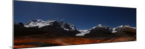 Glacier Landscape Lit by Moonlight in Alberta, Canada-Raul Touzon-Mounted Photographic Print