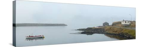 Panoramic View of Djupivogur Port in Iceland-Raul Touzon-Stretched Canvas Print