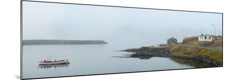 Panoramic View of Djupivogur Port in Iceland-Raul Touzon-Mounted Photographic Print