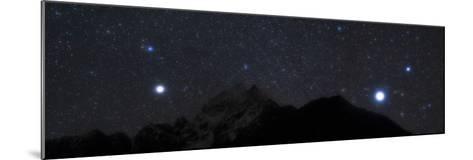 Bright Stars Sirius and Procyon Rise Above Mount Thamserku in Himalayas-Babak Tafreshi-Mounted Photographic Print
