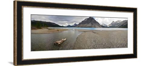 Scenic View of Bow Lake in Alberta, Canada-Raul Touzon-Framed Art Print
