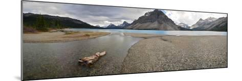 Scenic View of Bow Lake in Alberta, Canada-Raul Touzon-Mounted Photographic Print