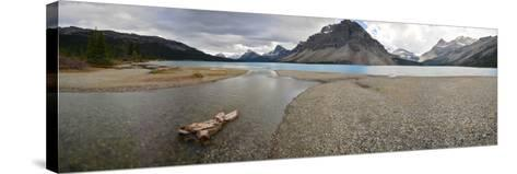 Scenic View of Bow Lake in Alberta, Canada-Raul Touzon-Stretched Canvas Print