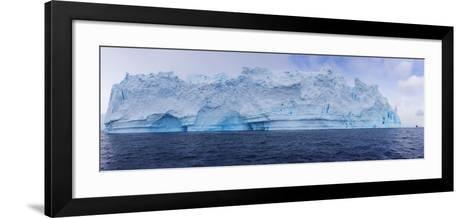A Huge Grounded Iceberg Rests in Cierva Cove-Stephen Alvarez-Framed Art Print