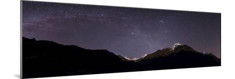 Panoramic View of Himalayas with the Milky Way over the Khumbu Valley-Babak Tafreshi-Mounted Photographic Print