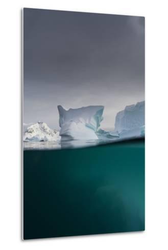 Over-Under View of an Iceberg, Skontorp Cove, Paradise Bay, Antarctica-Sergio Pitamitz-Metal Print