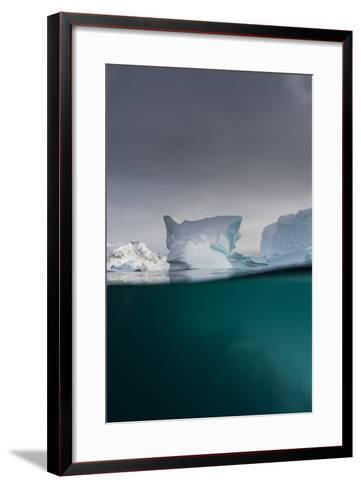 Over-Under View of an Iceberg, Skontorp Cove, Paradise Bay, Antarctica-Sergio Pitamitz-Framed Art Print