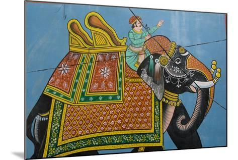 An Outdoor Mural in Jodhpur's Blue City-Steve Winter-Mounted Photographic Print