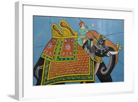 An Outdoor Mural in Jodhpur's Blue City-Steve Winter-Framed Art Print