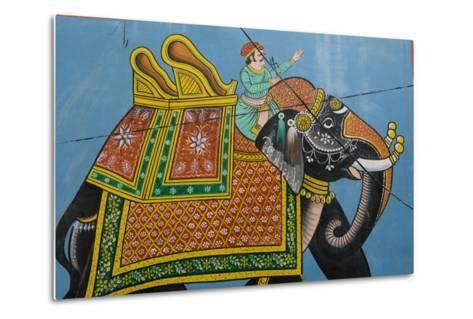 An Outdoor Mural in Jodhpur's Blue City-Steve Winter-Metal Print