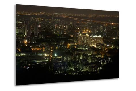 Apartment Buildings Near Sanjay Gandhi National Park Which Is Habitat for Leopards-Steve Winter-Metal Print