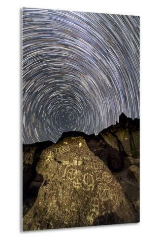 A Time-Exposure Image of Star Trails Shows the Sky Rotation around the North Pole-Babak Tafreshi-Metal Print
