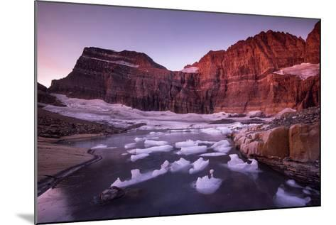 Fragments of Recently Calved Ice Float at the Foot of Grinnell Glacier-Keith Ladzinski-Mounted Photographic Print