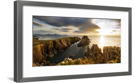 Sunset at Malin Head, Donegal, Ireland-Chris Hill-Framed Art Print
