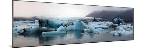 Icebergs on Atlantic Ocean Off Iceland-Raul Touzon-Mounted Photographic Print