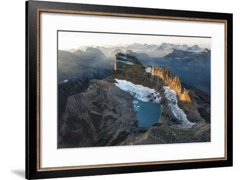 Sunrise Shines on the Garden Wall, a Spine of Rock Shaped by Ice Age Glaciers-Keith Ladzinski-Framed Art Print