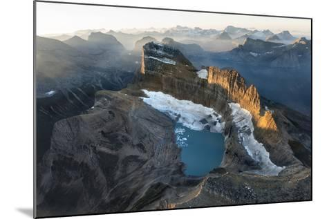Sunrise Shines on the Garden Wall, a Spine of Rock Shaped by Ice Age Glaciers-Keith Ladzinski-Mounted Photographic Print
