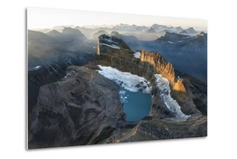Sunrise Shines on the Garden Wall, a Spine of Rock Shaped by Ice Age Glaciers-Keith Ladzinski-Metal Print
