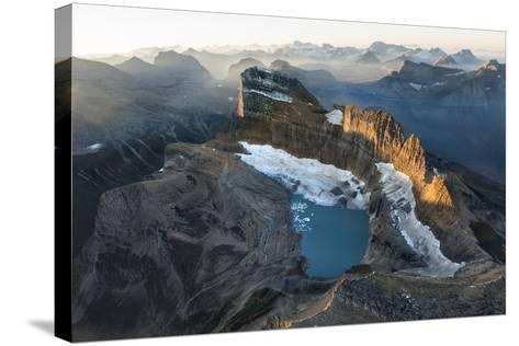 Sunrise Shines on the Garden Wall, a Spine of Rock Shaped by Ice Age Glaciers-Keith Ladzinski-Stretched Canvas Print