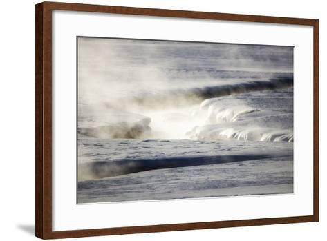 Steam Rises Off the Warm Water Flowing Through a Yellowstone Valley-Robbie George-Framed Art Print