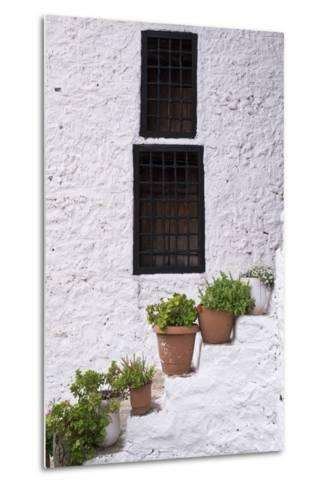 Potted Plants Line the White-Washed Stairways at the National Ethnographic Museum-Krista Rossow-Metal Print