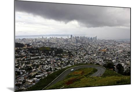 View of a Storm Approaching San Francisco from the Top of Twin Peaks-Jill Schneider-Mounted Photographic Print