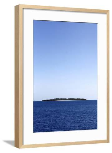 Scenic View of Beachcomber Island in Fiji-Jill Schneider-Framed Art Print