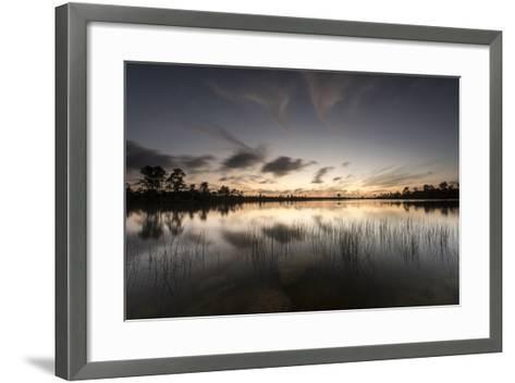 Twilight over Florida's Everglades National Park-Keith Ladzinski-Framed Art Print