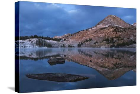 Reflections of Mountains on Libby Lake in the Medicine Bow-Routt National Forest-Drew Rush-Stretched Canvas Print