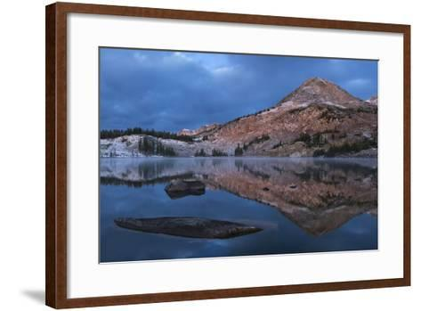 Reflections of Mountains on Libby Lake in the Medicine Bow-Routt National Forest-Drew Rush-Framed Art Print