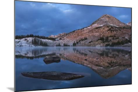 Reflections of Mountains on Libby Lake in the Medicine Bow-Routt National Forest-Drew Rush-Mounted Photographic Print