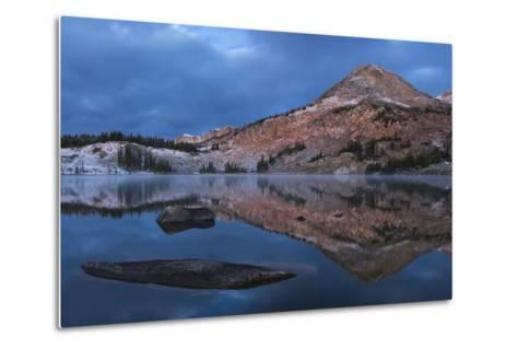 Reflections of Mountains on Libby Lake in the Medicine Bow-Routt National Forest-Drew Rush-Metal Print