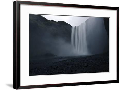 Scenic View of Skogafoss Waterfall in Iceland-Raul Touzon-Framed Art Print