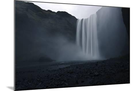 Scenic View of Skogafoss Waterfall in Iceland-Raul Touzon-Mounted Photographic Print