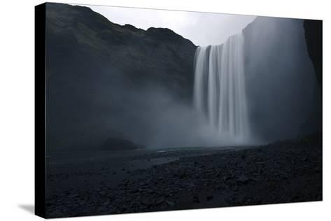Scenic View of Skogafoss Waterfall in Iceland-Raul Touzon-Stretched Canvas Print