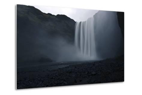 Scenic View of Skogafoss Waterfall in Iceland-Raul Touzon-Metal Print