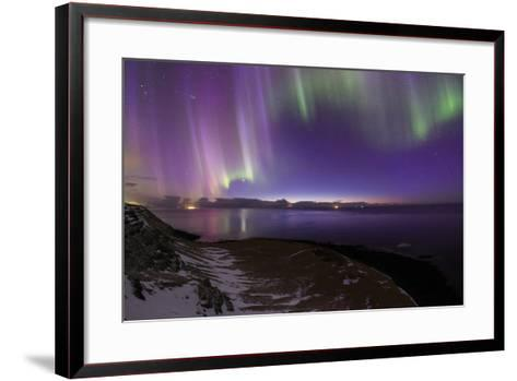 The Aurora Borealis Above the Atlantic Ocean with Venus in a Fading Twilight-Babak Tafreshi-Framed Art Print