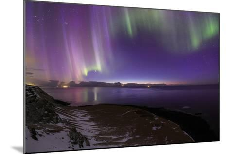 The Aurora Borealis Above the Atlantic Ocean with Venus in a Fading Twilight-Babak Tafreshi-Mounted Photographic Print