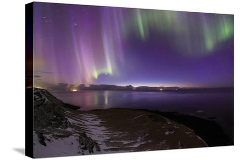 The Aurora Borealis Above the Atlantic Ocean with Venus in a Fading Twilight-Babak Tafreshi-Stretched Canvas Print