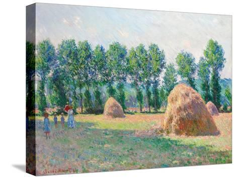 Heuschober in Giverny (Les Meules à Giverny). 1885-Claude Monet-Stretched Canvas Print