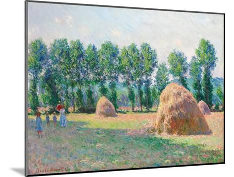 Heuschober in Giverny (Les Meules à Giverny). 1885-Claude Monet-Mounted Giclee Print
