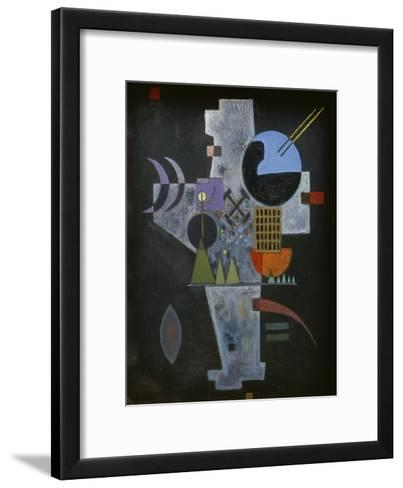 In the form of a cross. 1926-Wassily Kandinsky-Framed Art Print