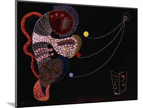 The Big and the Small (Le Gros et le Mince). 1937-Wassily Kandinsky-Mounted Giclee Print