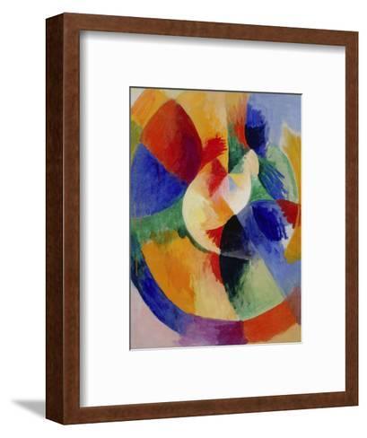 Circular Forms, Sun (Formes circulaires, soleil). 1912 - 13-Robert Delaunay-Framed Art Print