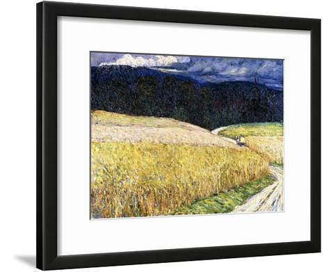 Kallm?nz - Gewitterstimmung (Die Postkutsche). 1904-Wassily Kandinsky-Framed Art Print
